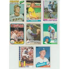 8ad390f2975 20 + Different JERRY REUSS cards lot 1977 - 1989 Pirate Dodgers O-Pee-