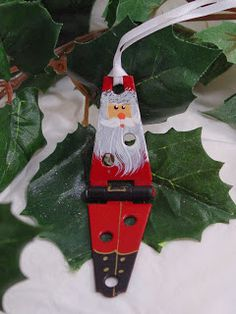 Beth Watson Design Studio: The 12 Ornaments of Christmas Past, Present and Future! Christmas Ornaments To Make, Santa Ornaments, Handmade Christmas, Holiday Crafts, Christmas Decorations, Christmas Snowman, Snowman Door, Holiday Decor, Days Before Christmas