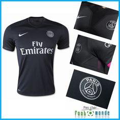 Nouveau Maillot Foot PSG Third 2015 2016 Flocage France
