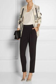 By Malene Birger | Ailatia embellished silk-organza bomber jacket