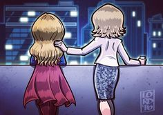 """""""Not Impossible"""" Great Supergirl episode last night! is really owning the role! It has been great to see Kara and Cat's relationship evolve over the season…all around awesome job Supergirl Cat Grant, Supergirl Tv, Supergirl And Flash, Supergirl Drawing, Lord Mesa Art, Yuri, Superman, Really Cool Drawings, Beautiful Drawings"""