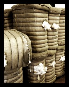 Winter & Bract's spinning factory - bales of cashmere waiting to be tested for purity and quality