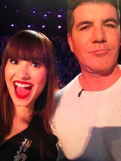 Demi and Simon... First X-Factor live show
