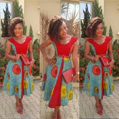 African Work Dress - The African Clothing