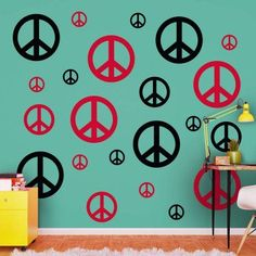 Fathead Peace Signs Wall Decal - 69-00272