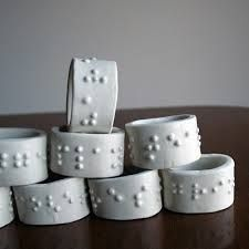 clay napkin rings - Google Search