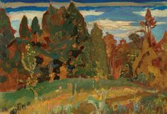 """""""Spring Meadow, Don Valley,"""" Frederick Horsman Varley. oil on canvas, x private collection. Group Of Seven Artists, Tom Thomson, Toronto Travel, Art Auction, Landscape Paintings, Oil On Canvas, Art Gallery, Fine Art, Spring"""