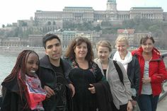 On the Chain bridge in Budapest spring 2010. Work journey.