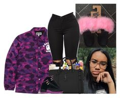 """"" by kennisha84 ❤ liked on Polyvore featuring A BATHING APE, Speck, Maybelline and Yves Saint Laurent"