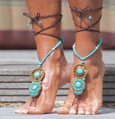 Barefoot sandals Soleado turquoise