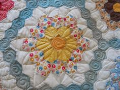 How to quilt a Grandmother Flower Garden Quilt