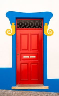 Lagos, Algarve. Traditional door. #Portugal bright colors