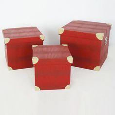Screen Gems Furniture Elric Decorative Trunks - Set of 3 - SGT08