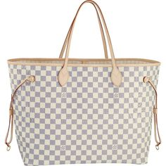 Louis Vuitton Damier Azur Canvas Neverfull GM are for people who love the high fashion look. Buy Louis Vuitton Now! Louis Vuitton Neverfull Mm, Neverfull Gm, Lv Handbags, Handbags Online, Louis Vuitton Handbags, Vuitton Bag, Purses Online, Leather Handbags, Burberry Handbags