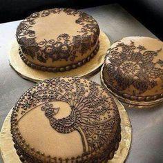 Henna Wedding Cake by Rora Does Cake-beautiful! I love the idea of a Henna Wedding cake. Henna Wedding Cake, Henna Cake, Wedding Cakes, Dessert Wedding, Pretty Cakes, Beautiful Cakes, Amazing Cakes, Beautiful Mehndi, It's Amazing