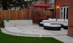 Excellent Patio And Backyard Designs The post Patio And Backyard Designs… … - Garten Dekoration Back Garden Design, Modern Garden Design, Small Back Garden Ideas, Small Garden Patios, Patio Ideas For Small Gardens, Cosy Garden Ideas, Garden Lighting Ideas, Simple Garden Ideas, Garden Design Ideas