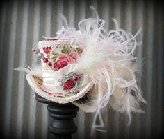Queen Bee Rose Mini Top Hat Alice in Wonderland Hat by ChikiBird