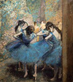 Edgar Degas - Dancers in blue (1890)