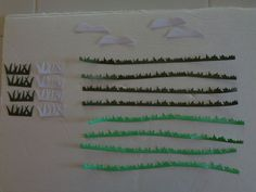 20pc homemade diecut cardstock. Grass & clouds landscape shapes made w/ Sizzix