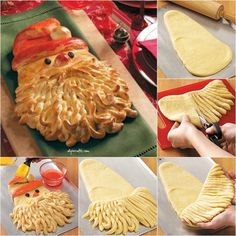 """Golden Santa Bread Recipe:   If you """"italianed"""" it up a notch, this would go great with christmas lasagna!"""
