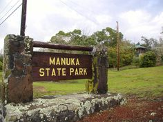 #WeKnowNeighborhood - Manuka State Wayside Park, a state park of 13.4 acres with an arboretum. It is located on Mamalahoa Highway (Highway 11), 19.3 miles west of Na'alehu. It is a rest stop with an opportunity to picnic among the 130 introduced exotic plants and flowers, most of which were planted in the mid-19th century. Another attraction in the park is the Manuka nature trail.