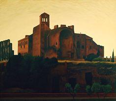 S.Francesco Romano  by Renny Tait  1990 175x200cms   Oil on Canvas