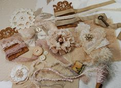 Shabby Victorian Suede - Textile & Embellishment Collection