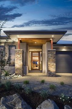 modern one story ranch house one story house exterior design ideas