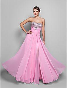 A-line Strapless Floor-length Chiffon Evening/Prom Dress (55... – USD $ 129.99