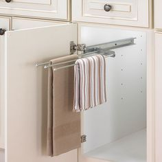 Want any 3-pronged towel pull-out - 1 for dish cloth, 1 for tea towel and one for hand towel.
