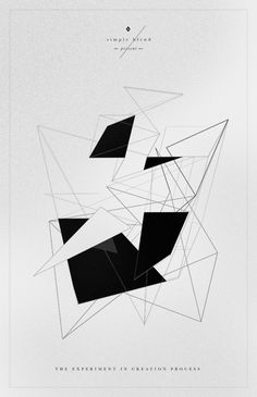 Geometric design in black on white