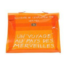 65f750b4ccb Sac de plage Hermès en vinyle avec Kelly