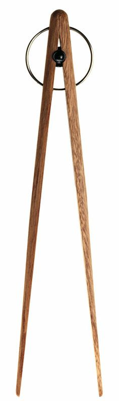 PICK UP WOODEN serving tongs