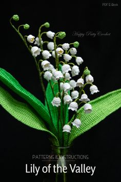 Crochet Lily of the Valley Pattern by Happy Patty Crochet