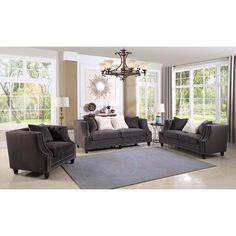 Delicieux ESF Furniture Versace Living Room Set In Rich Ebony   Versace Furniture    Pinterest   Living Room Sets, Room Set And Versace