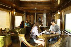 Guests playing games on board Maharajas Express Rajah Club