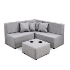 Give your child the comfort they'll need to relax with the Jitterbug Kid's Sectional. Crafted just for your pint-sized pal, the sectional is upholstered with fabric and finished in a grey hue for a soft addition to any bedroom or playroom.