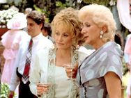 """Steel Magnolias... Best quote of the movie  happens at this scene . """"That dress is horrible, her ass looks like two pigs fighting over a milk dud"""" - or """"Weeza, why are you in such a good mood? Did you run over a small child or something?"""""""