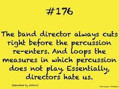 Percussionist problems... that happens to me EVERYDAY :) I'm used to it