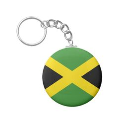 #custom #Jamaican Themed #gifts #keychain #the_little_gift_shop -  Jamaican Flag Keychain.