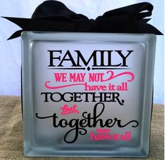 A personal favorite from my Etsy shop https://www.etsy.com/listing/224722271/family-glass-block-light-or-night-light