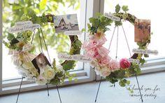 くり抜きハートのウェルカムボード Floral Wreath, Wreaths, Home Decor, Decoration Home, Room Decor, Bouquet, Flower Band, Interior Decorating, Floral Arrangements