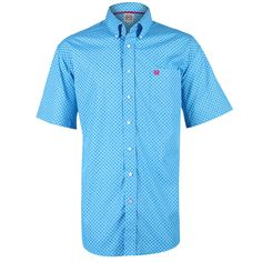 Cinch Men's Oval Diamond Patterned Short Sleeve Shirt