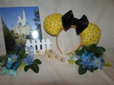 Your place to buy and sell all things handmade Mouse Ears Headband, Ear Headbands, Mickey Mouse Ears, Disney Ears, Winnie The Pooh Ears, Child Please, Sequin Fabric, Disney Merchandise, Colorful Flowers