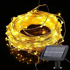 Weanas 200 LEDs Solar Powered Fairy String Lights Starry Copper Wire Lighting Ambiance Warm White Solar Energy 72 feet 22M for Christmas Indoor Outdoor Home Garden Wedding Party Decoration Warm White 200 LEDs ** See this great product.