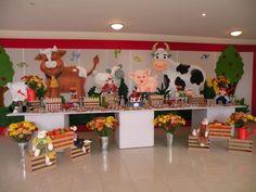 Decoración fiesta animales de la granja - Imagui