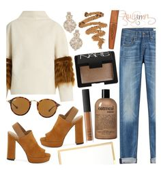 """""""Fall Chills"""" by tropicalcraze ❤ liked on Polyvore featuring Saks Potts, Kate Spade, rag & bone, Stuart Weitzman, Victoria Beckham, Ray-Ban, philosophy, NARS Cosmetics and Rimmel"""