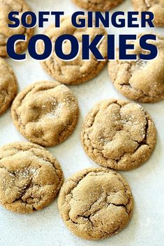 Soft and Chewy Ginger Cookies Recipe - Six Sisters' Stuff Desserts - Soft Cookie Recipe, Cookie Recipes, Dessert Recipes, Ginger Cookie Recipe, Yummy Recipes, Bar Recipes, Cookie Ideas, Copycat Recipes, Cupcake Recipes