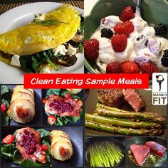 @mankofit | Sample meal plan of how clean eating should look like. There are four prototypes... [finished @ link]