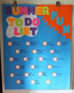 Our Summer To-Do List by My Mommys Place, via Flickr